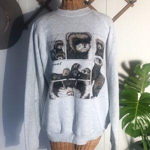 Vintage 1993 Novelty Ferret Sweatshirt